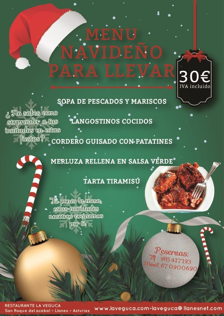 Menú navideño 2016, para llevar - Restaurante Parrilla La